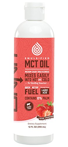 Coconut Strawberry Tea (Onnit Emulsified MCT Oil - Mixes Instantly in Coffee and Shakes - Strawberry (12oz))