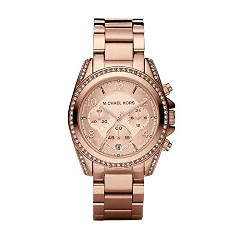 Michael Kors Women's Blair Rose Gold-Tone Watch MK5263 (Watches Michael Kors In Clearance)