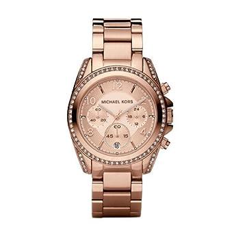 d8de787bf Amazon.com: Michael Kors Women's Blair Rose Gold-Tone Watch MK5263 ...