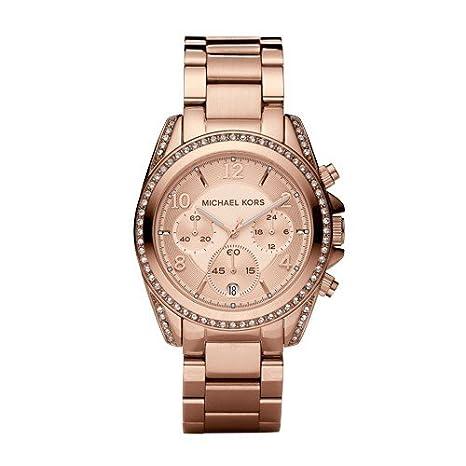 c322f42cd Amazon.com: Michael Kors Women's Blair Rose Gold-Tone Watch MK5263: Michael  Kors: Watches