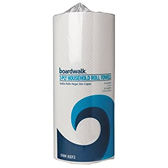 Boardwalk 6272 Paper Towel Rolls, Perforated, 2-Ply, White (30 Rolls of 85)