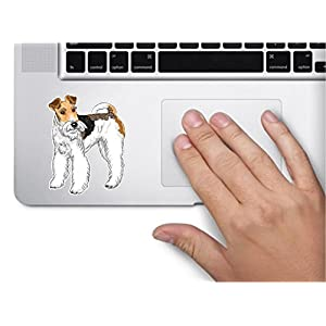 Dog #2 wire fox terrier 3x3.8 inches sticker decal die cut vinyl - Made and Shipped in USA 1