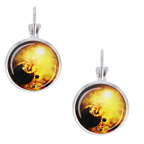 Replica Spiderman Costumes For Sale (Darkey Wang Woman Fashion Novelty Magical Star Round Glass Earrings(6#))