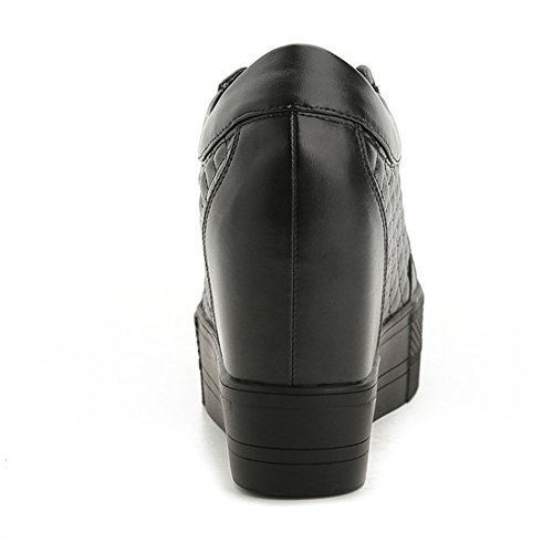 Btrada Womens Platform Casual Sneaker Wedge Fashion Sport Walking Shoes Winter Black Plus Velvet 1B08V
