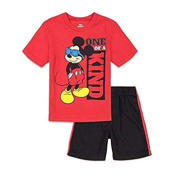 Disney Mickey Mouse Brief Sleeve T-Shirt and Mesh Shorts Set