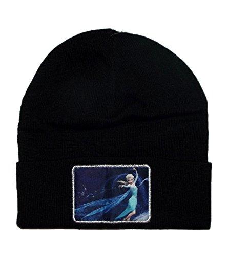 Disney Frozen Elsa Patch Cuffed Knit Movie Princess Beanie Hat Winter (Knit Toque)