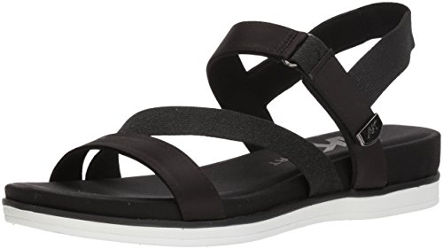 Anne Klein AK Sport Women's Nolita Sandal, Black Fabric, 8 M US