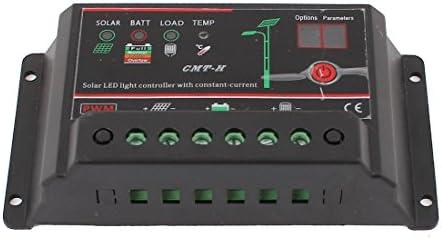 uxcell ソーラー充電コントローラ カー バッテリー パネル LEDライト DC 12V/24V 10A