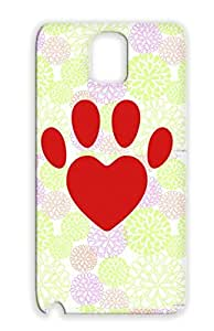 Red Skid-proof For Sumsang Galaxy Note 3 Mitt Animals Nature Pet Paw Comic Sweet Hearts Dog Love Dogs TPU Dog Heart F2 Protective Case
