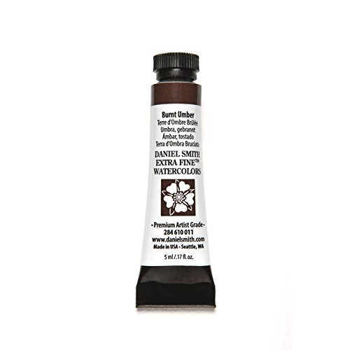Daniel Smith 284610011 Extra Fine Watercolors Tube, 5ml, Burnt Umber