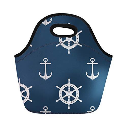 Life Preserver Sailor Purse - Semtomn Neoprene Lunch Tote Bag Abstract