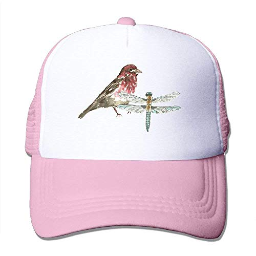 Watercolor Bird Dragonfly Adjustable Sports Mesh Baseball Trucker Caps Sun Hats