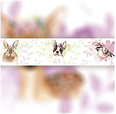 Animals Forest setecientosgramos Cenefa Auto-Adhesiva 5 m x 15 cm Decoraci/ón de Pared Infantil