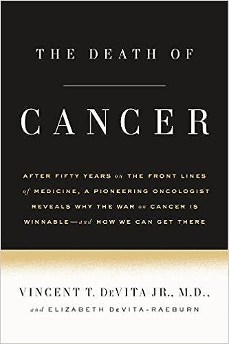 Image result for The Death of Cancer Vincent DeVita Jr.