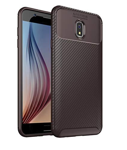- Galaxy J7 2018 Case, Futanwei [Ultra Slim] Premium Soft Case for Business man [Carbon Fiber Lightweight] Minimalist Texture Non-Slip Durable Rubber Cover for Galaxy J7 Refine/J7 Star/J7V 2nd Gen Brown