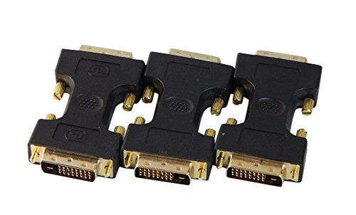 Dual Link Cable Mm Connectors - Your Cable Store DVI D Dual Link Male to Male Adapter 3 Pack