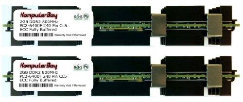 KOMPUTERBAY 4GB (2 x 2GB) FULLY BUFFERED (FB-DIMM) PC2-6400 DDR2 ECC 800MHz SPECIAL APPLE KIT