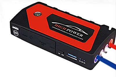 Car Jump Starter Kit, 600A 18000mAh (up to 6.2L Gas, 5.0L Diesel Engine) Power Pack Battery Booster With Smart Charging Port (Black/Red)