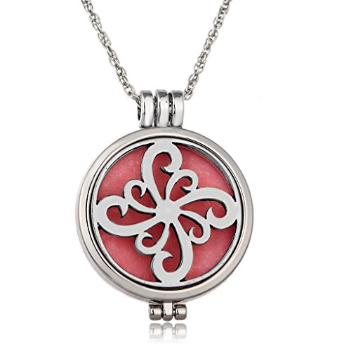 Pinwheel Girls Essential Oil Diffuser Necklaces Glow In The Dark Necklace Jewelry Womens Chain
