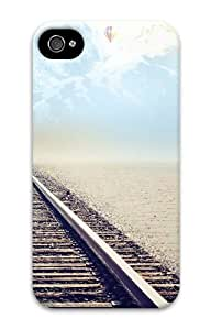 iphone 4 make cases Landscapes mountain tracks 3D Case for Apple iPhone 4/4S