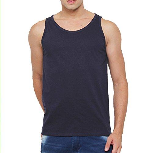 SAYITLOUD Men #39;s Solid Slim Fit Vest