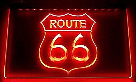 Zhengdian Electronic Route 66 – Cartel Luminoso LED Nuevo – Rótulo Carga Reklame Neon Neon (Estados Unidos