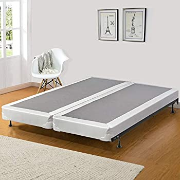 Image of Continental Sleep Fifth Ave Foam Encased 5-Inch Semi Flex Split Box Spring, Queen, White/Brown Home and Kitchen
