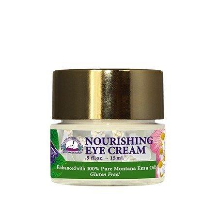 Montana Emu Ranch - Nourishing Eye Cream 0.5 Ounce - Enhanced with Pure Emu Oil (Pure Emu Oil Cream)