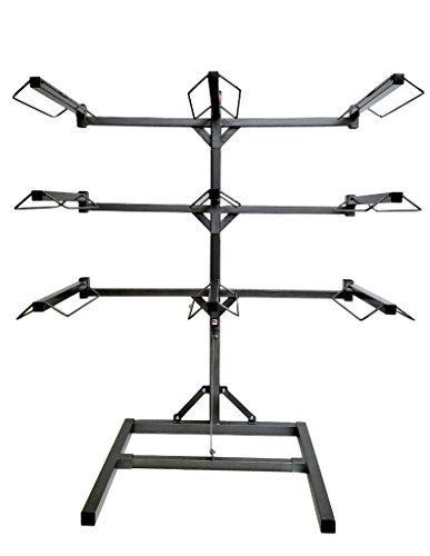Equiracks Saddle Rack Adjustable Free Stand 9 Arm Steel Gray 9-SR-1909 by Equi-Racks