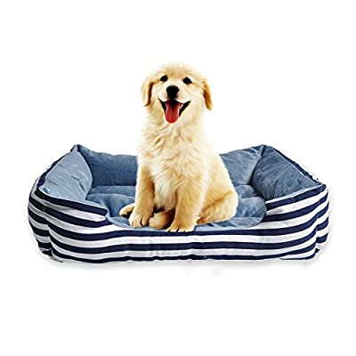 HappyCare Textiles Rectangle Ultra-Soft Printed Dog and Pet Bed