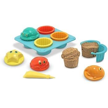 Melissa & Doug Sunny Patch Seaside Sidekicks Sand Cupcake Play Set