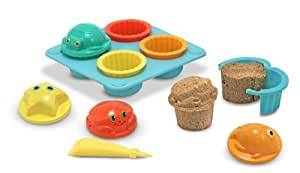 Melissa & Doug Sunny Patch Seaside Sidekicks Sand Cupcake Set