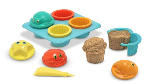 Melissa & Doug Sunny Patch Seaside Sidekicks Sand Cupcake Play Set ()