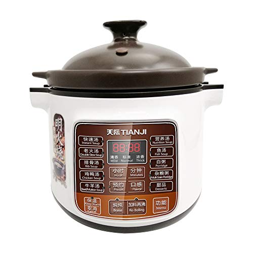 Tianji Electric Stew Pot DGD40-40LD Slow Cooker, Ceramic Stew Inner Pot for Gas, 4 L,600W (Ceramic Cooker Pot With Slow)