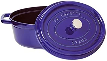 Staub Minis Cocotte Ovalada Azul Oscuro 11 cm Hierro Fundido