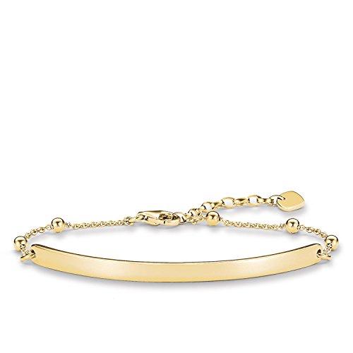 Thomas Sabo Love Bridge, Femmes Bracelet, Argent sterling 925 ; plaqué or jaune 18 carats