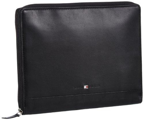 Tommy Hilfiger IVY TABLET CASE - Bolso de mensajero de cuero mujer negro - Schwarz (BLACK 990)