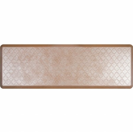 WellnessMats Estates Collection Essential Series Sandstone Trellis 6 x 2 Foot Anti-Fatigue Mat by WellnessMats