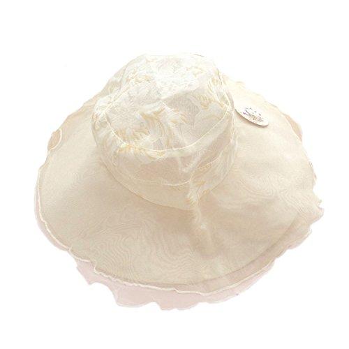 Top Shop Hat FTSUCQ Womens Rose Floral Hat Sun Bonnet Folding Large Brim (Felt Top Female Hat)