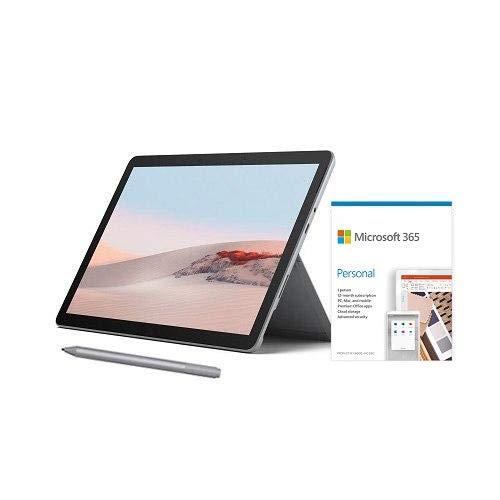 "Microsoft Surface Go 2 10.5"" Intel Pentium Gold 4GB RAM 64GB eMMC Platinum + Surface Pen Platinum + Microsoft 365 Personal 1 Year Subscription for 1 User"