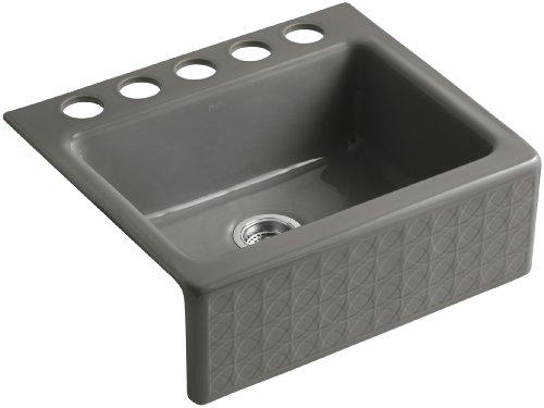 Kohler K-14572-T6-K5 Cursive Design on Alcott Undercounter Sink, Translucent Cashmere