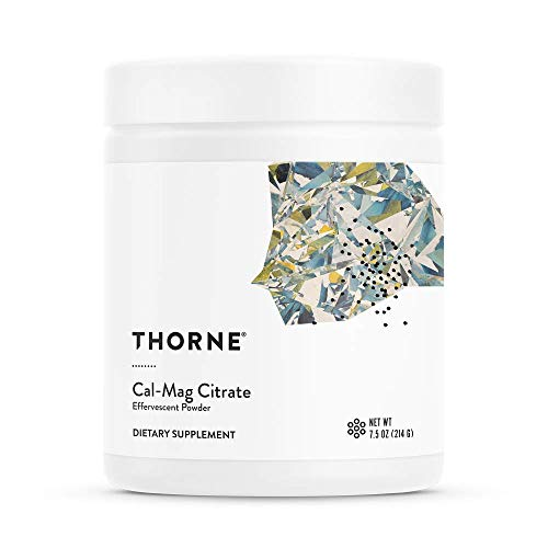 Thorne Research - Cal-Mag Citrate Effervescent Powder - Calcium + Magnesium Supplement w/Vitamin C for Stress Relief - 7.5 oz