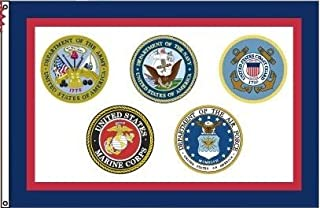 product image for US Armed Forces Flag 3x5 All Military Branches Nylon Made in the USA