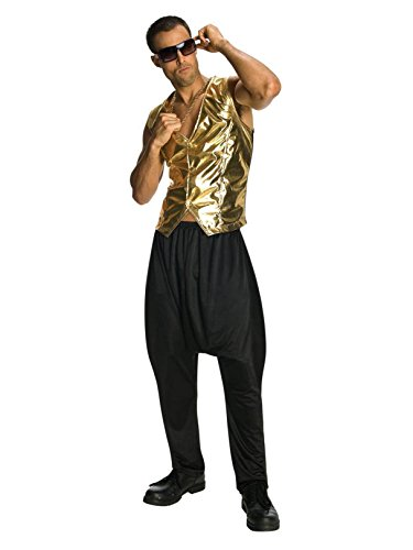 (Old School Mens Halloween MC Hammer Vest Gold (ONE)