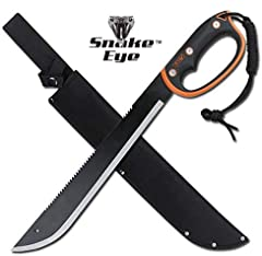"""The Elk Ridge Machete is equally well-suited for protection from the zombies, or for clearing brush in the yard. The 3mm blade is thick enough for daily use, but sharp enough to cut through most weeds. At 21.5"""", it is large enough to add a ta..."""