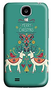 S4 Case, Samsung S4 Case, Customized Protective Samsung Galaxy S4 Hard 3D Cases - Personalized Merry Christams01 Cover