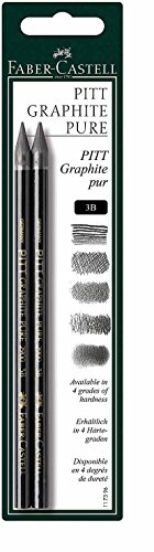 Faber-Castell 117396 - Stift Pitt Graphite Pure, Stärke: 3B, 2er Set