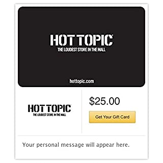 Hot Topic Gift Cards - E-mail Delivery (B00P9VEQF0) | Amazon price tracker / tracking, Amazon price history charts, Amazon price watches, Amazon price drop alerts