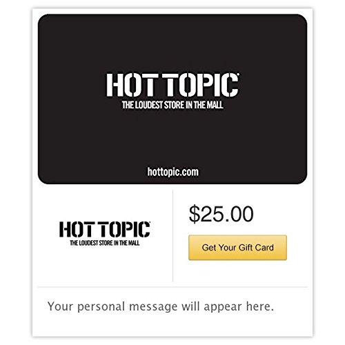 Hot Topic Gift Cards - E-mail - For Gift Men Cards Online
