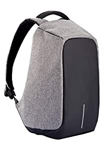 XD Design Bobby Original Anti-Theft Laptop Backpack with USB Port (Unisex Bag) Grey Grey One Size